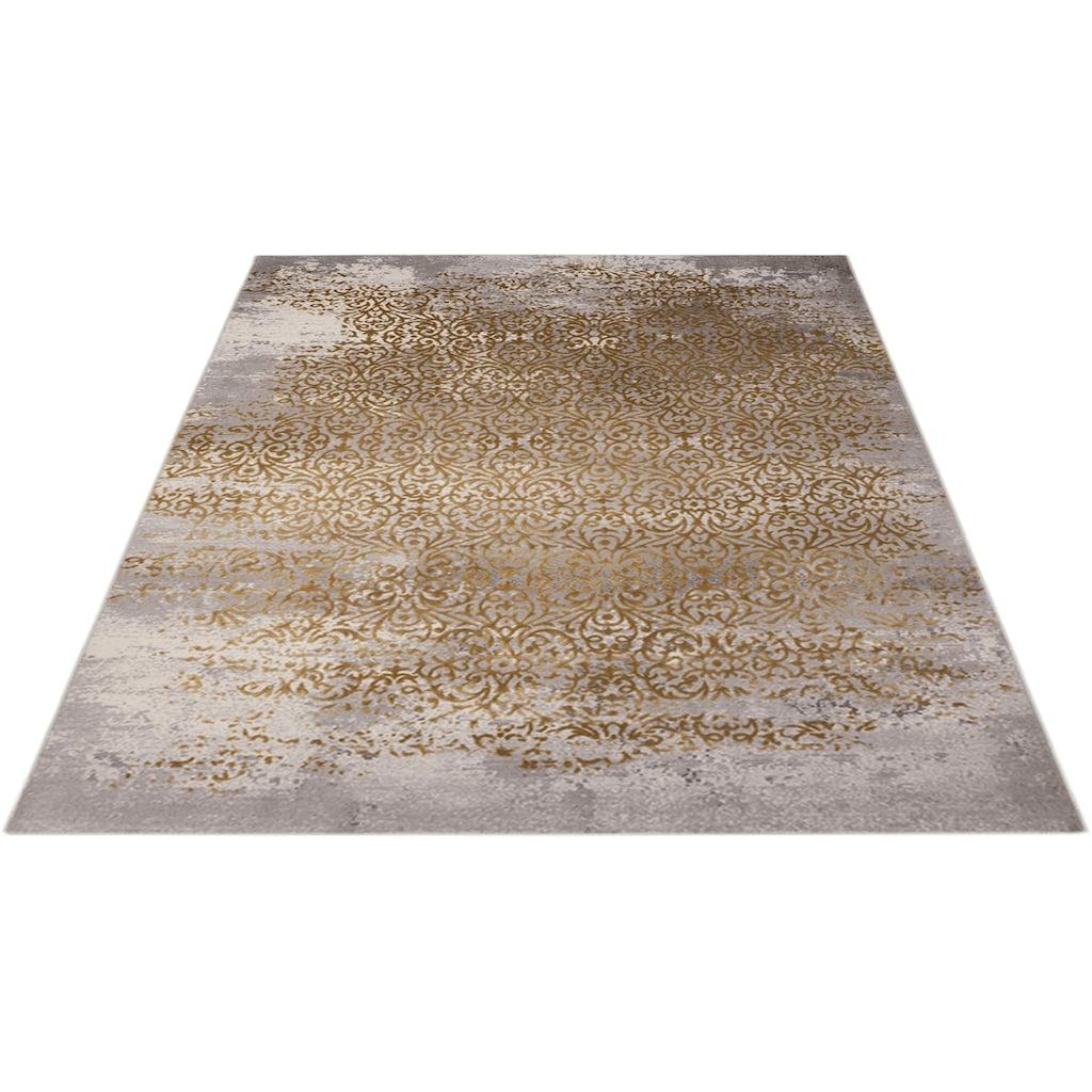 merinos Teppich »Gayla«, rechteckig, 12 mm Höhe, Vintage Design, Hoch-Tief-Effekt, Wohnzimmer