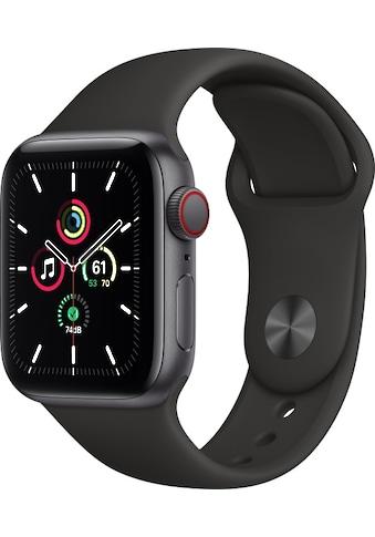 Apple Smartwatch »Apple Watch Series SE GPS + Cellular, Aluminium Gehäuse, 40 mm mit Sportarmband«, ( ) kaufen