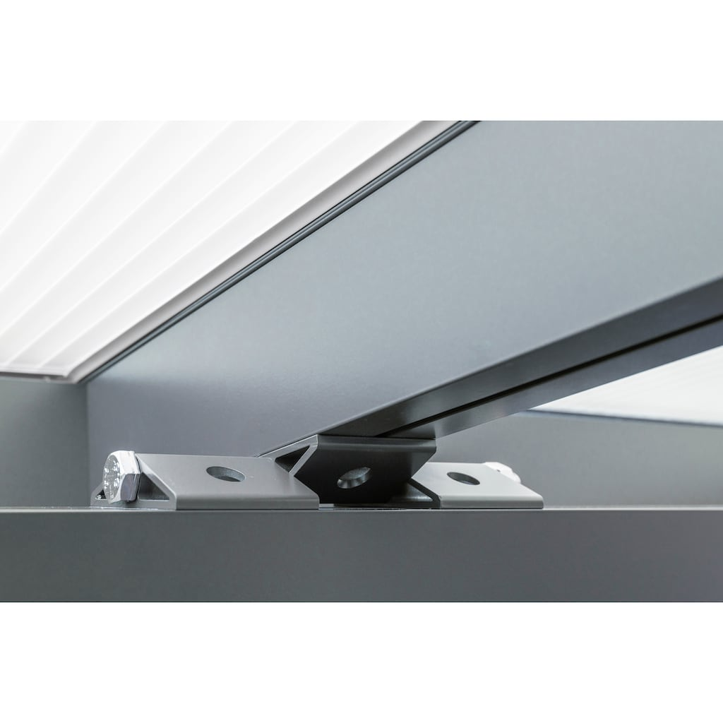 GUTTA Terrassendach »Premium«, BxT: 410x406 cm, Dach Polycarbonat Opal