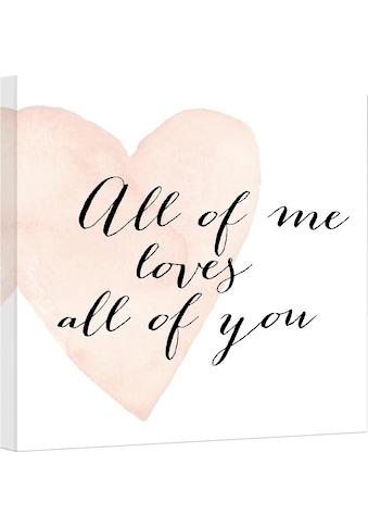 Wall-Art Leinwandbild »Confetti & Cream - All of me loves all of you« kaufen