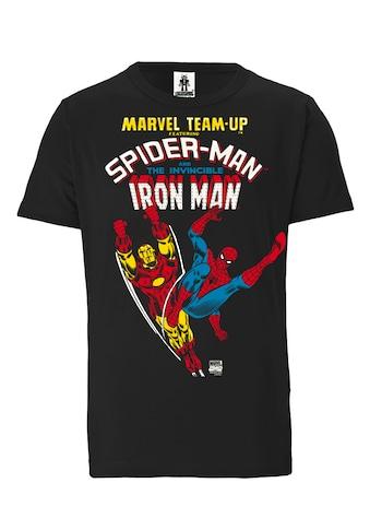 LOGOSHIRT T-Shirt mit Spiderman und Iron Man-Druck kaufen