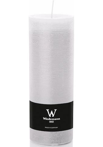 Wiedemann Stumpenkerze, mit Banderole, ca. Ø 6,8 cm, Höhe 19 cm kaufen