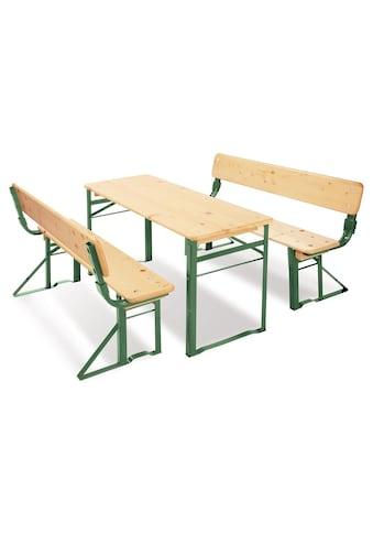 Pinolino® Kindersitzgruppe »Kinderfestzeltgarnitur mit Lehne, Sepp« (3 - tlg) kaufen