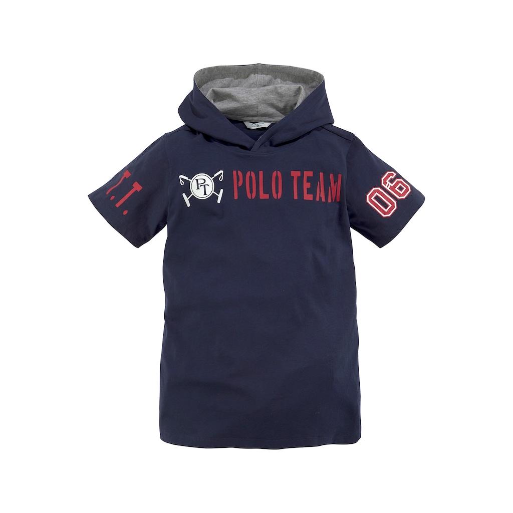TOM TAILOR Polo Team Kapuzenshirt »mit Druck vorn und auf beiden Ärmeln«