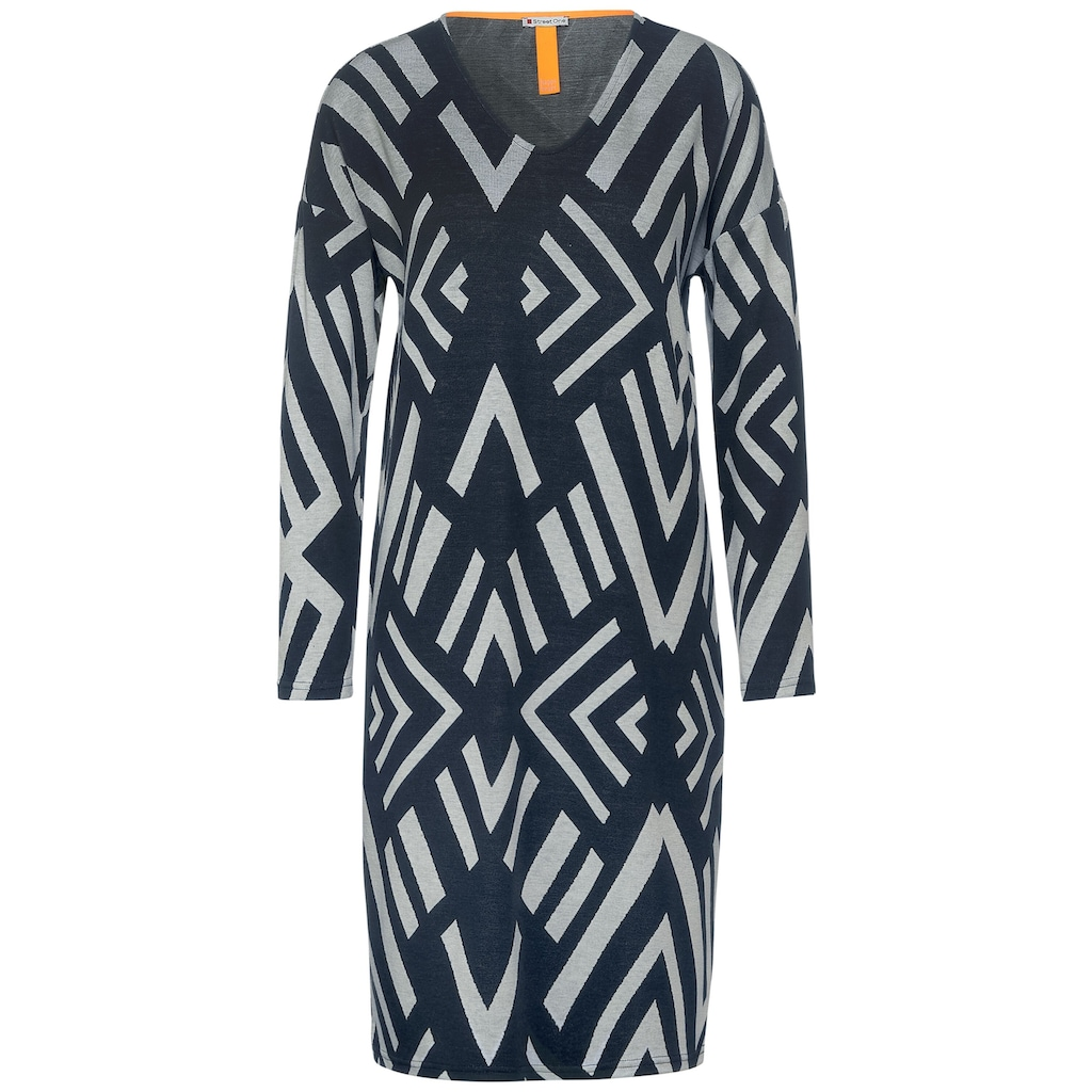 STREET ONE Jerseykleid, mit grafischem Muster
