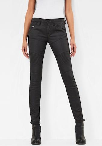G-Star RAW Skinny-fit-Jeans »5620 Custom Mid Waist Skinny Jeans«, mit matter Beschichtung in Lederoptik kaufen