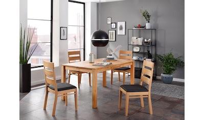 Home affaire Essgruppe »Soeren 3« (Set, 5 - tlg Tisch 160/90 cm, 4 Stühle, Polstersitz) kaufen