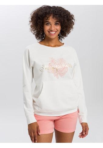 Cross Jeans® Sweatshirt »65235«, Legerer Sweater mit Kängurutasche kaufen