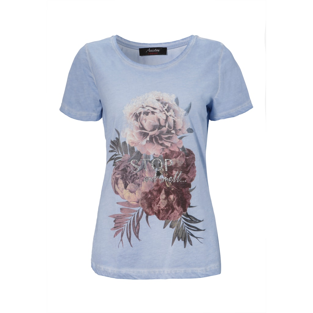 Aniston CASUAL T-Shirt, mit Oil dyed-Waschung