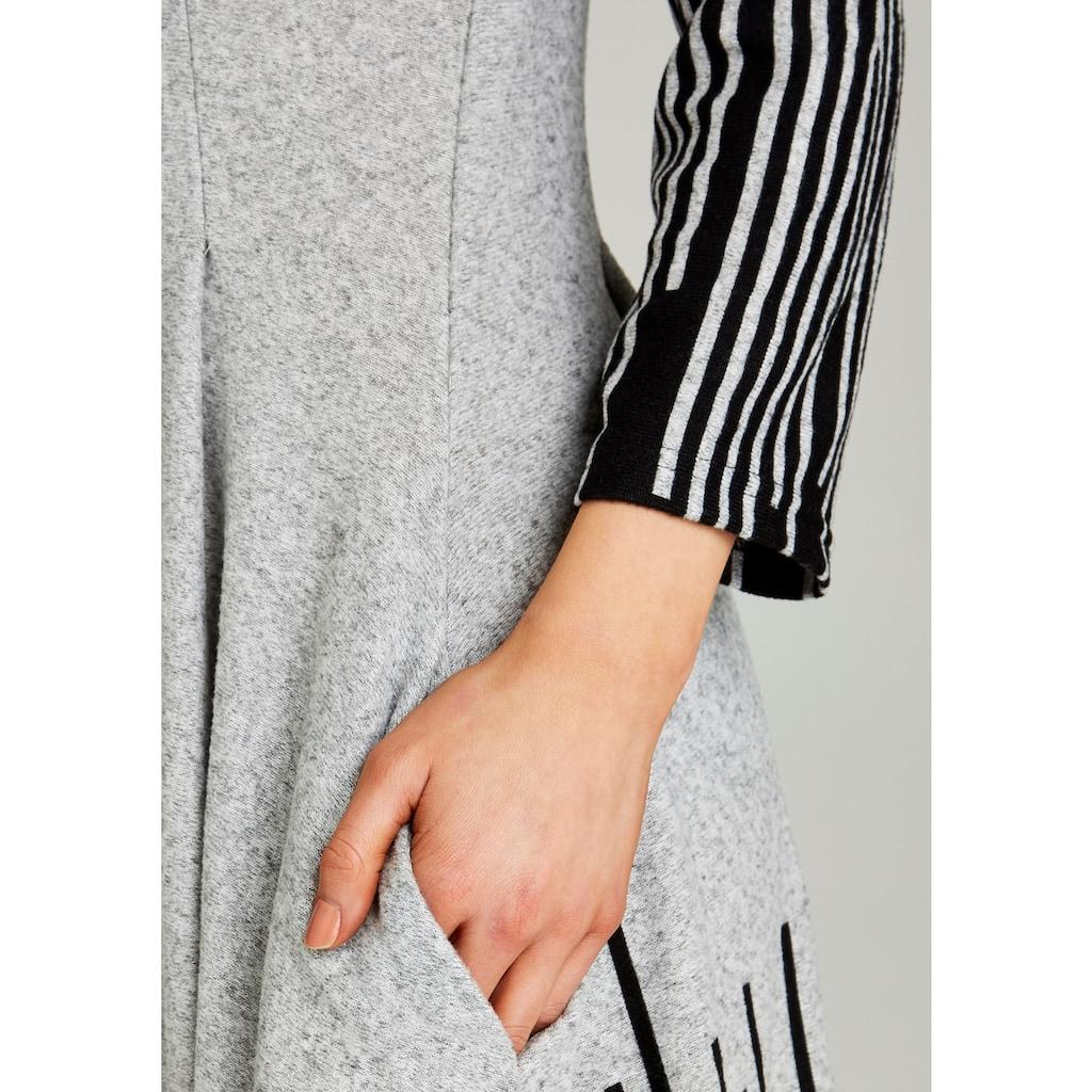 Apricot Strickkleid »Abstract Stripe Hanky Hem Dress«, mit asymmetrischem Saum