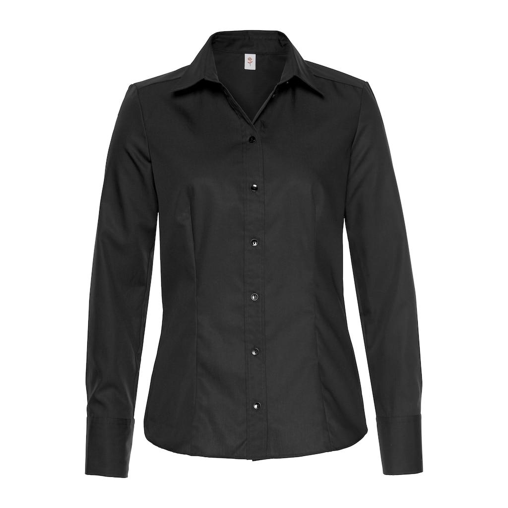 seidensticker Klassische Bluse, mit extrabreiten Manschetten
