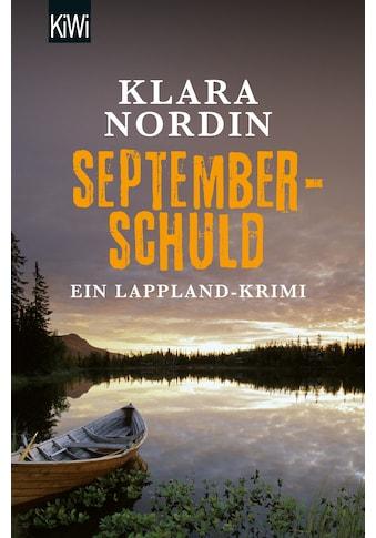 Buch Septemberschuld / Klara Nordin kaufen