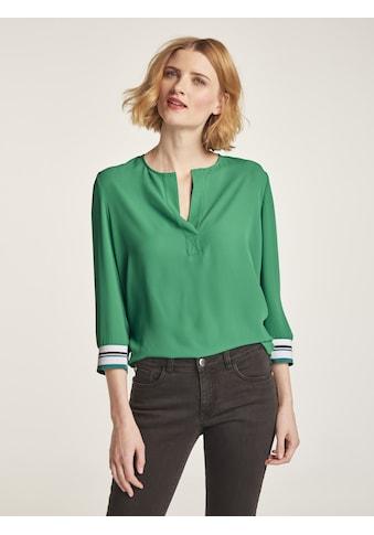 Bluse mit Kontrastbündchen kaufen