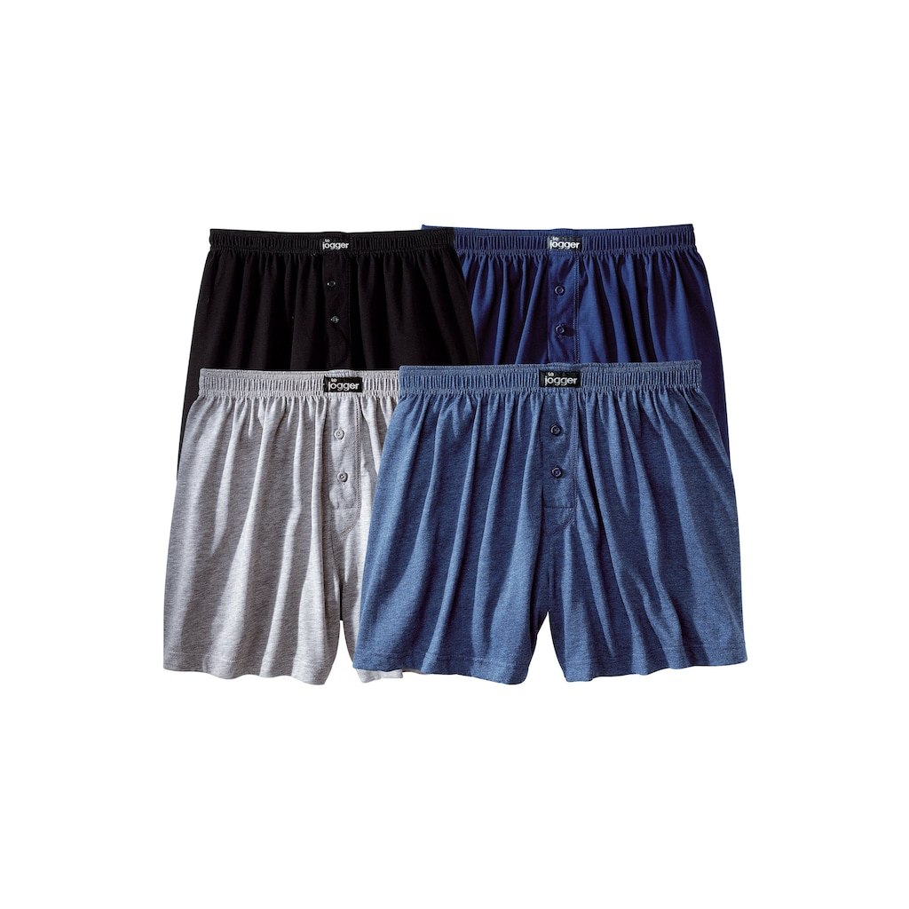 le jogger® Weiter Boxer, aus angenehm weicher Baumwoll-Qualität
