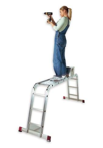 KRAUSE Gelenkleiter »Corda«, 4x3 Sprossen, inkl. Plattform kaufen