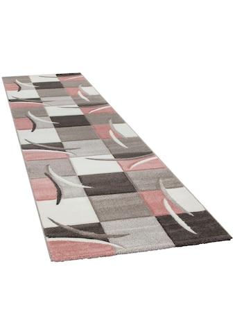 Paco Home Läufer »Lara 235«, rechteckig, 18 mm Höhe, Teppich-Läufer, gewebt, kariertes Design in schönen Pastell-Farben kaufen