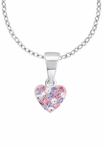 Prinzessin Lillifee Silberkette »Herz, 2013171«, mit Kristallsteinen kaufen