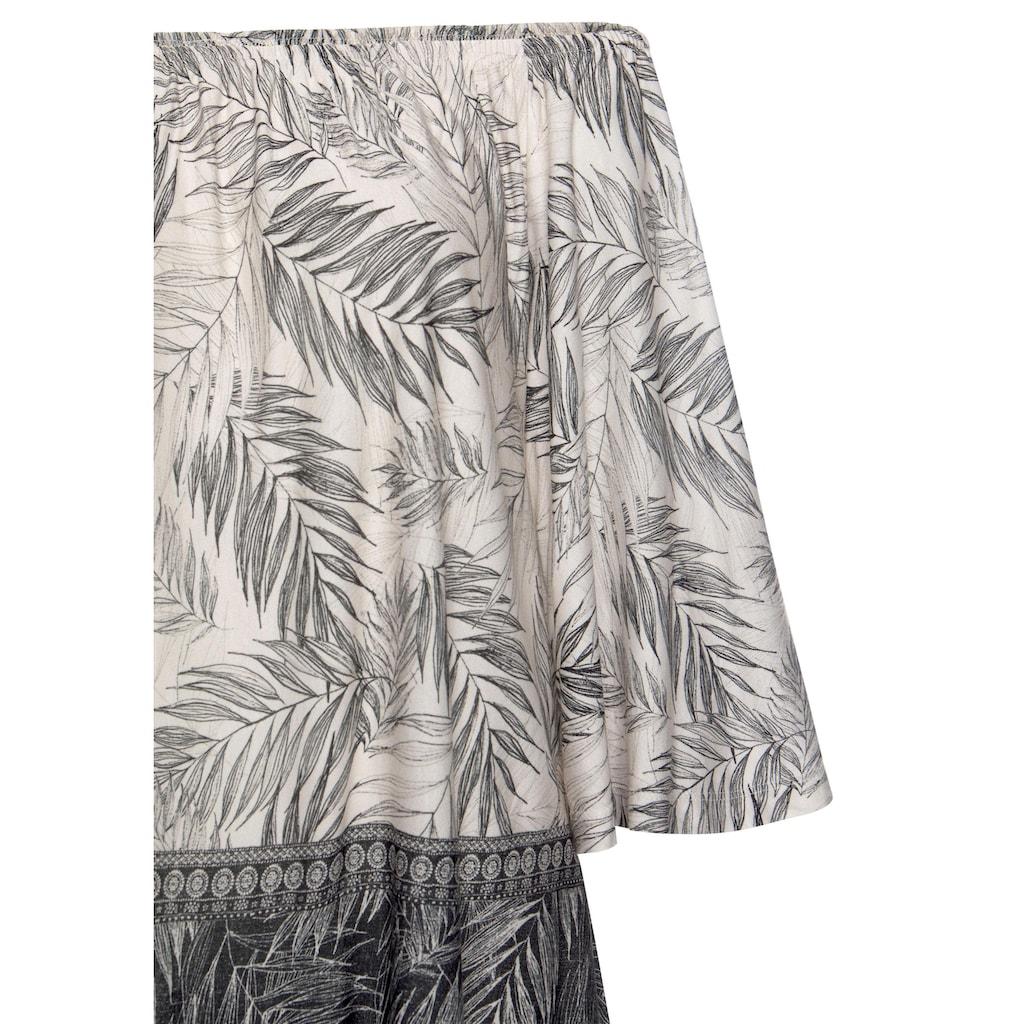 Buffalo Strandshirt, mit Blätterdruck