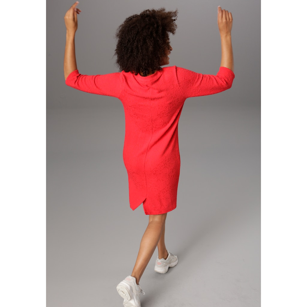 Aniston SELECTED Jerseykleid, in edel strukturierter Ware