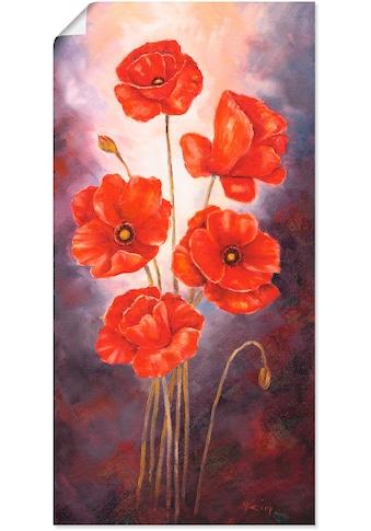 Artland Wandbild »Mohn V«, Blumen, (1 St.), in vielen Größen & Produktarten - Alubild / Outdoorbild für den Außenbereich, Leinwandbild, Poster, Wandaufkleber / Wandtattoo auch für Badezimmer geeignet kaufen