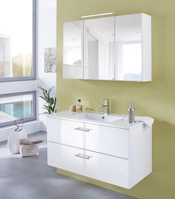 Waschtisch in Weiß Hochglanz