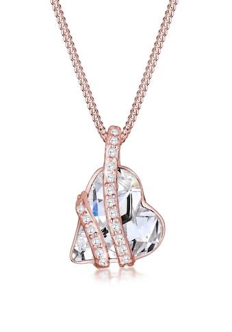 Elli Collierkettchen »Herz mit Kristalle Umschlungen Silber« kaufen