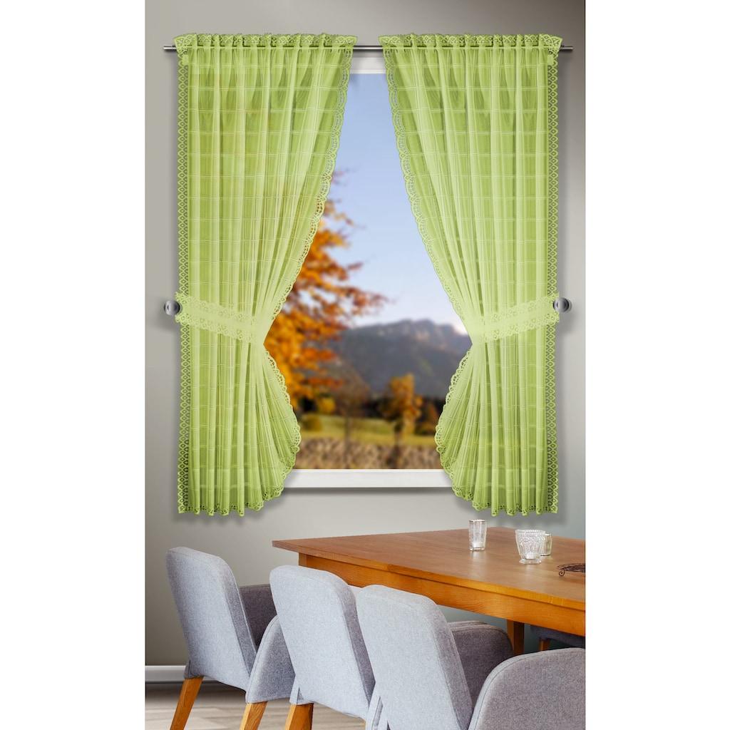 WILLKOMMEN ZUHAUSE by ALBANI GROUP Scheibengardine »Tirol«, Landhaus-Garnitur