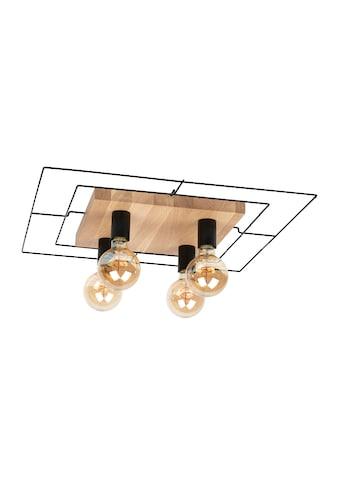 SPOT Light Deckenleuchte »CHESTER«, E27, Modernes Design, aus Eichenholz und Metall,... kaufen