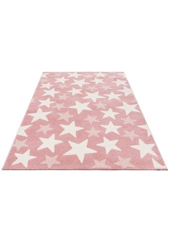Lüttenhütt Kinderteppich »Stars«, rechteckig, 13 mm Höhe, Pastell-Farben, Motiv... kaufen