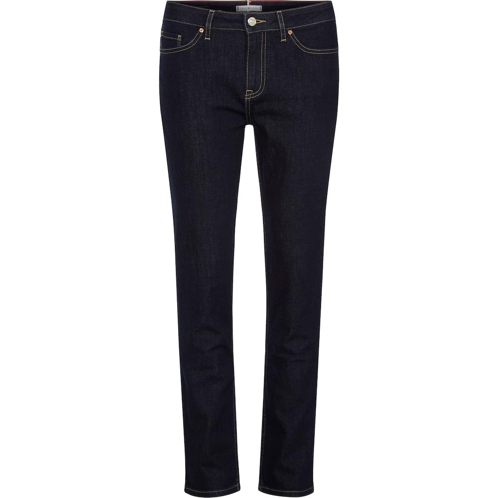 TOMMY HILFIGER Straight-Jeans »HERITAGE ROME STRAIGHT RW«, mit markanten Kontrastnähten