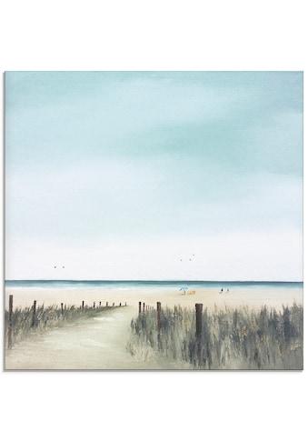 Artland Glasbild »Sonniger Morgen II«, Strand, (1 St.) kaufen