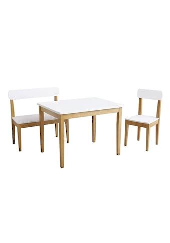 Roba® Kindersitzgruppe »Weiß/Natur« (3 - tlg) kaufen