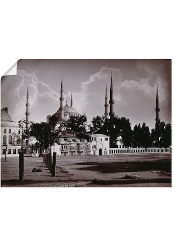 Artland Wandbild »Konstantinopel: Moschee Sultan Ahmed I.«, Religion, (1 St.), in vielen Größen & Produktarten -Leinwandbild, Poster, Wandaufkleber / Wandtattoo auch für Badezimmer geeignet kaufen