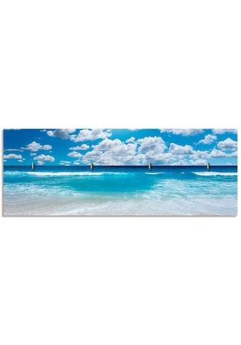 Artland Schlüsselbrett »Großartige Strandlandschaft«, aus Holz mit 4 Schlüsselhaken –... kaufen