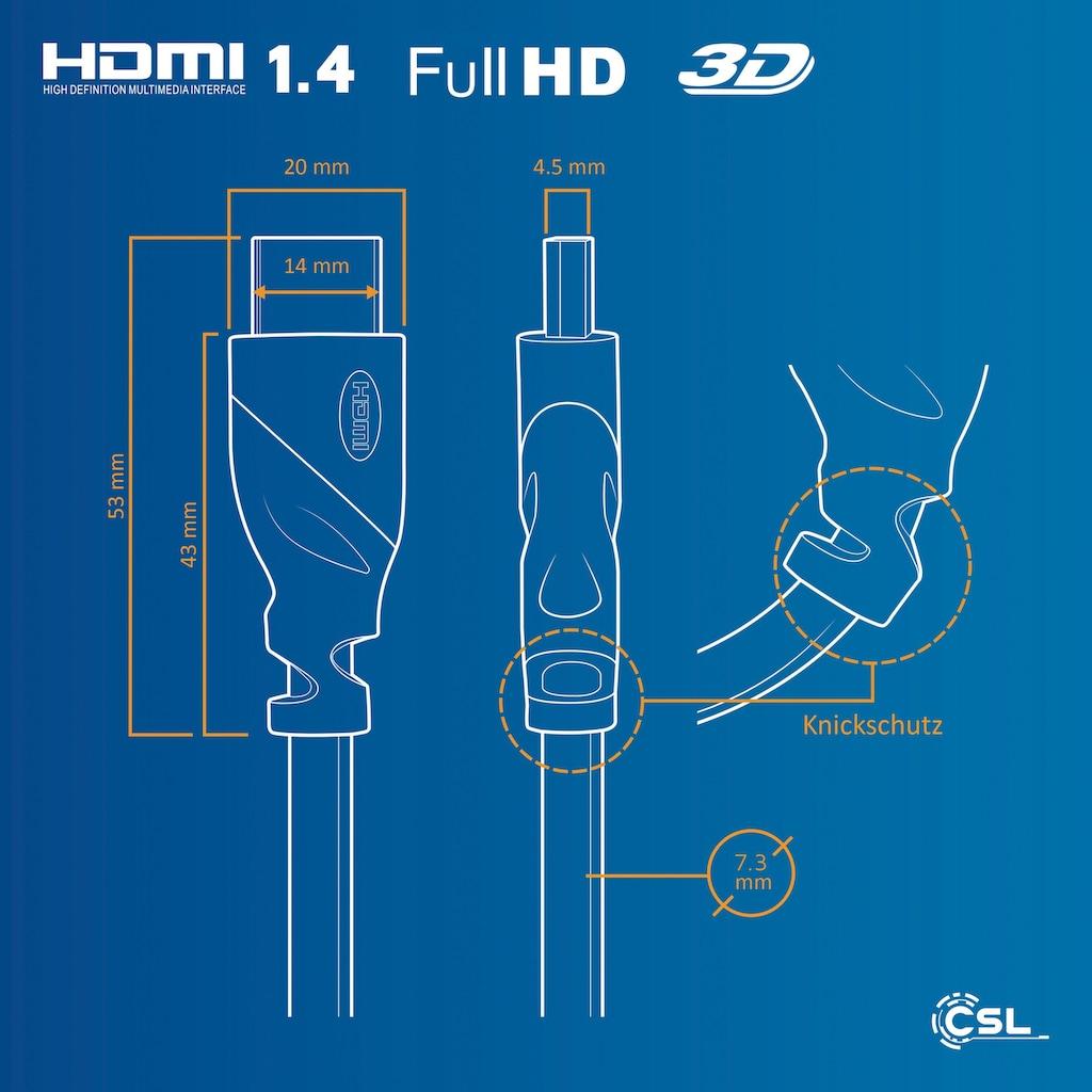 CSL Full HD HDMI 1.4 Kabel / High Speed mit Ethernet »3D / ARC / 1080p 60Hz«
