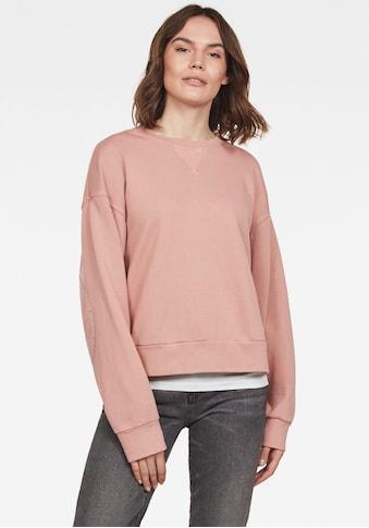 G-Star RAW Sweatshirt »Earth Loose Round Neck Sweatshirt«, mit G-Star RAW Logo aus 100% Bio-Baumwolle auf der Hüfte kaufen