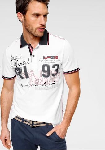 Rhode Island Poloshirt, mit großem Frontprint kaufen
