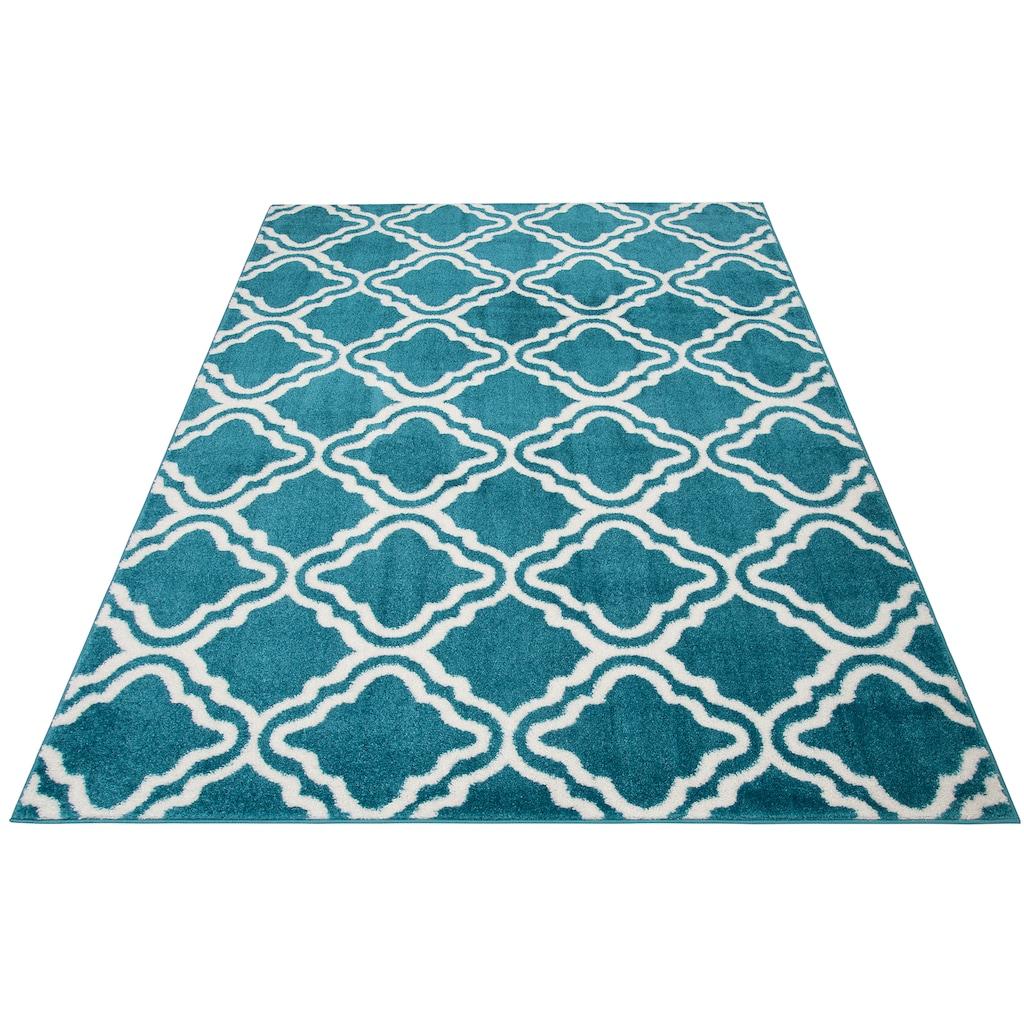 my home Teppich »Debora«, rechteckig, 13 mm Höhe, weiche Haptik, Wohnzimmer