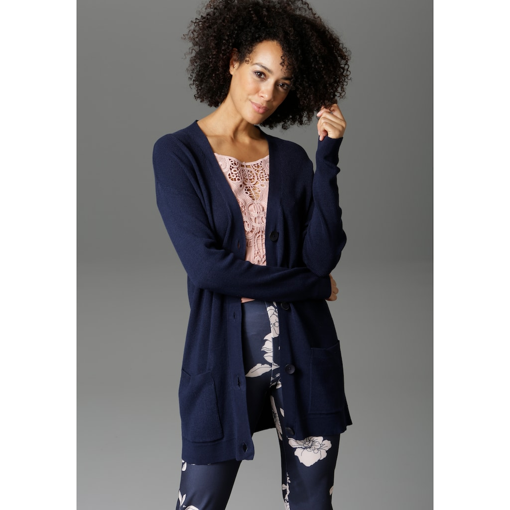Aniston CASUAL Strickjacke, in Longform - NEUE KOLLEKTION
