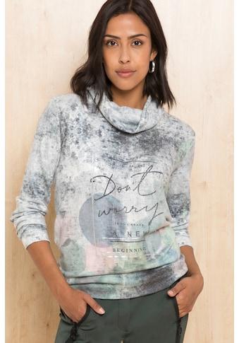 bianca Langarmshirt »RAQUEL«, mit dezentem Statement-Print kaufen