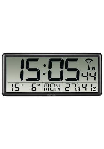 Hama Funkwanduhr »Kalender Temperatur«, Jumbo, Schwarz kaufen