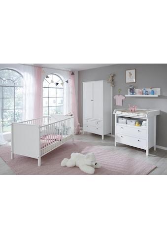 Babyzimmer-Komplettset »Westerland«, (Set, 4 St.), (4 tlg.) Bett + Wickelkommode + 2... kaufen