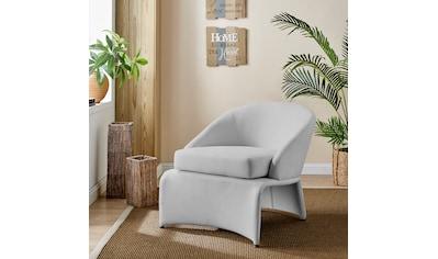 Home affaire Loungesessel »Isla«, mit einem schönen pflegeleichten Leinenstoff Bezug, in verschiedenen Farbvarianten, Sitzhöhe 46 cm kaufen