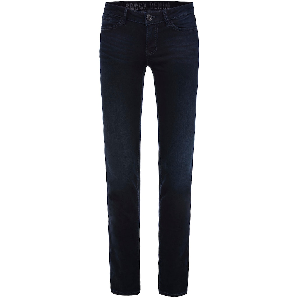 SOCCX Slim-fit-Jeans »RO:MY«, mit Wrinkle-Effekten am Bein