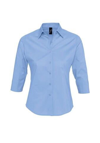 SOLS Hemdbluse »Damen Effect Bluse / Arbeitsbluse, 3/4-Ärmel« kaufen