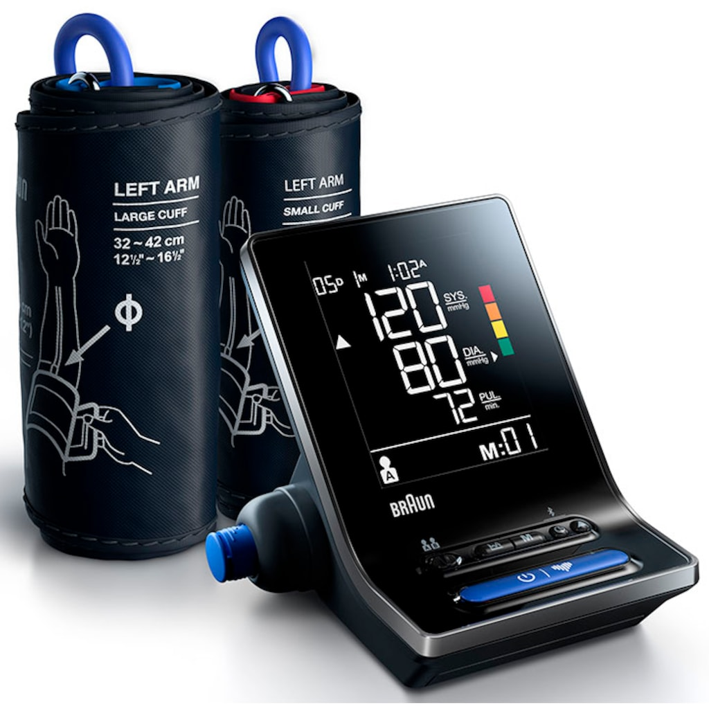Braun Oberarm-Blutdruckmessgerät »ExactFit™ 5 Connect BUA6350«, mit 2 Manschettengrößen (22-42cm)