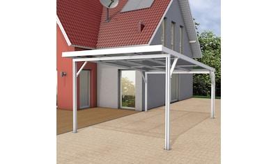GUTTA Einzelcarport »Premium«, Aluminium, 293,4 cm, weiß, BxT: 309x562 cm, Dacheindeckung Polycarbonat klar kaufen