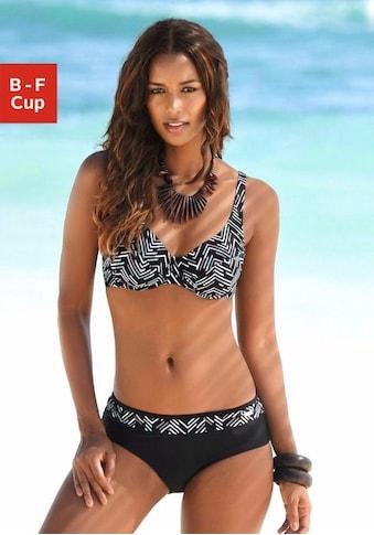 LASCANA Bügel-Bikini, im grafischen Druckdesign kaufen