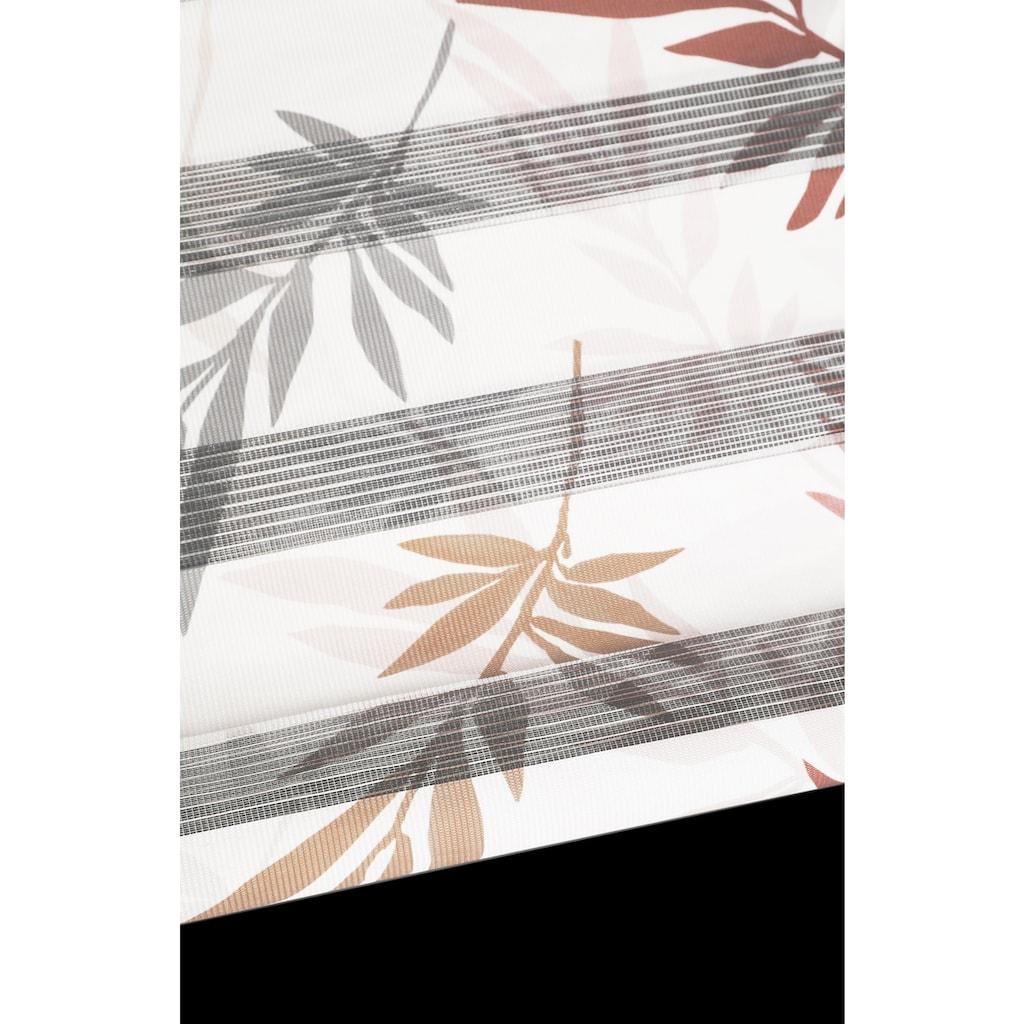 my home Doppelrollo »Autumn«, Lichtschutz, ohne Bohren, freihängend, im Fixmaß