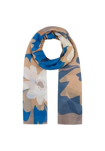 Codello XL-Schal mit Flower-Print aus recyceltem Polyester kaufen